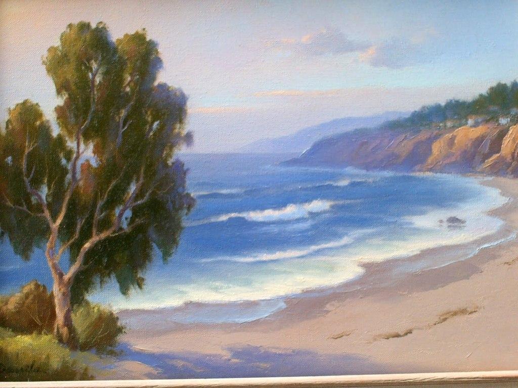 earl daniels artwork  san clemente beach