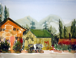 Veronica Shimanovskaya Artwork Argentina3, 2005 Watercolor, Landscape
