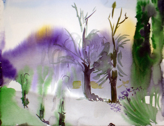 Veronica Shimanovskaya Artwork Argentina4, 2005 Watercolor, Landscape