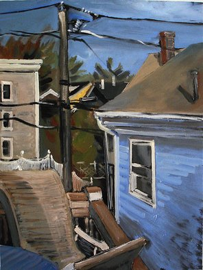 Veronica Shimanovskaya Artwork Pleasant Street View, 2008 Oil Painting, Landscape