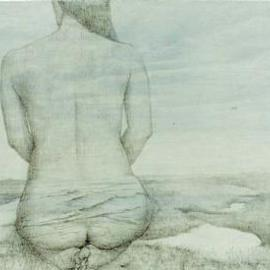 Shin-hye Park Artwork landscape, 2001 Pencil Drawing, Nature