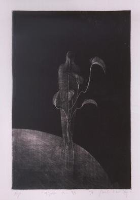 Shin-Hye Park  'Landscape', created in 1998, Original Printmaking Lithography.