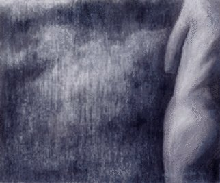 Nature Charcoal Drawing by Shin-hye Park Title: landscape, created in 2001