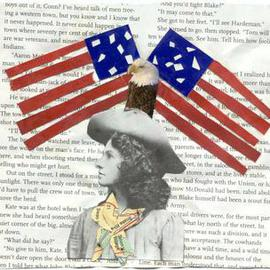 Shmuela Padnos Artwork Annie Oakly American Girl, 2001 Collage, Americana