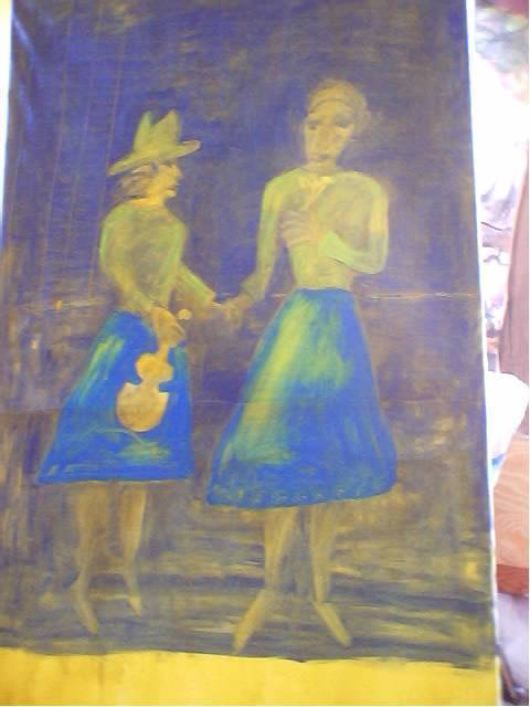 Shmuela Padnos  'American Jewish Cowgirls Up', created in 2002, Original Pastel Oil.