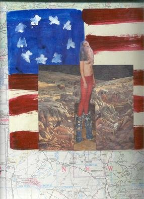 Shmuela Padnos: 'americandayofthedead', 2001 Collage, Americana. collage and mixed media...