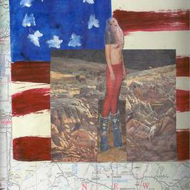 Shmuela Padnos Artwork americandayofthedead, 2001 Collage, Americana