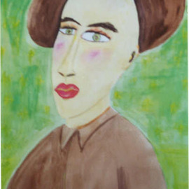 Shmuela Padnos Artwork eDith, 2002 Watercolor, Americana