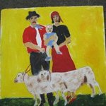 Gypsie Family And Lambs, Shmuela Padnos