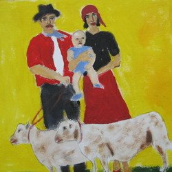 , Gypsie Family And Lambs, Ethnic, $466