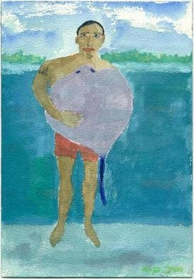 Shmuela Padnos: 'raphael from bora bora', 2004 Other Painting, Figurative. painted in bora bora...