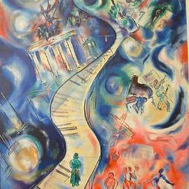 Shoshannah Brombacher Artwork Beethoven in Berlin, 1996 Oil Painting, Music