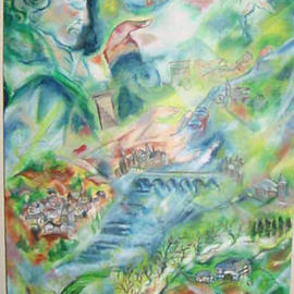 Shoshannah Brombacher Artwork Beethoven in Limburg, 2002 Oil Painting, Music