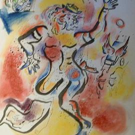 Shoshannah Brombacher Artwork David dances, 2005 Other Drawing, Dance