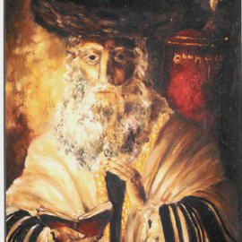 Shoshannah Brombacher: 'The Baal Shem Tov', 1978 Oil Painting, Judaic. Artist Description: This is one of the older works I still have in my collection. It is not for sale, but it shows what kind of work I ( can/ will) make. This is an ( imaginary) portrait of Rabbi Israel Baal Shem Tov ( the' Besht' , the Master of the Good Name, ...