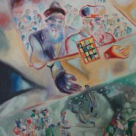 Shoshannah Brombacher: 'The Tzemach Tzedek', 1997 Oil Painting, History. Artist Description: In my series about the connection between the ushpizin and the Lubavitcher Rebbes this is the 5th painting, of the Tzemach Tzedek and Aaron haKohen. Both loved peace and helped poor Jews, like the ones forcibly drafted into the army of the Czar. The Tzemach tzedek saved many ...