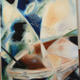 Shoshannah Brombacher: 'The life or Rabbi Eliezer 3', 1996 Oil Painting, Famous People. Artist Description:  This is the third painting( in a set of 4) about the life of Rabbi Eliezer, see description of first one. ...