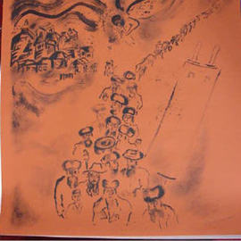 Shoshannah Brombacher Artwork galut   exile, 2002 Other Drawing, War