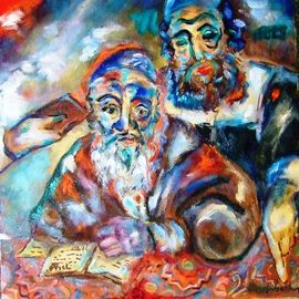 Shoshannah Brombacher: 'study', 2007 Oil Painting, Education. Artist Description: I was born in Amsterdam and researched the 17th century Sephardic community of Amsterdam. This resulted in a series of historical paintings, like this one, a rabbi studying a text. I have many more historical paintings.  ...