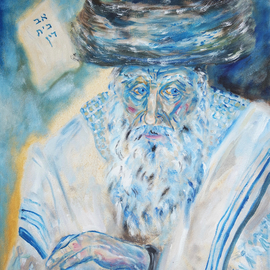 Shoshannah Brombacher: 'the shpoler zeide', 2017 Oil Painting, Judaic. Artist Description: I am illustrating a book about the Shpoler Zeide, a famous Chassidic Rebbe, by Dr. J. Paull and J. Briskman. There are many stories about the Shpoler Zayda and i made pastel drawings and oil paintings. They will be included in the book, but the originals are for ...