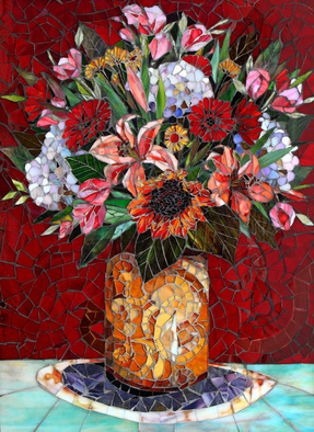 Mosaic by Sandra Bryant titled: Firoi, created in 2014