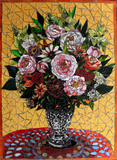 Sandra Bryant  'Flowers In A Sunny Room', created in 2012, Original Mosaic.