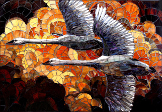 Mosaic by Sandra Bryant titled: In Flight, created in 2014
