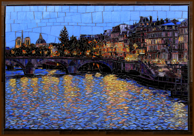 Sandra Bryant  'Across The Seine', created in 2020, Original Painting Oil.