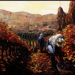 autumn vineyard By Sandra Bryant