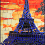eiffel in blue By Sandra Bryant