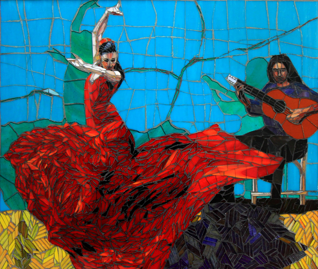 Sandra Bryant  'Flamenco Dancers', created in 2018, Original Mosaic.