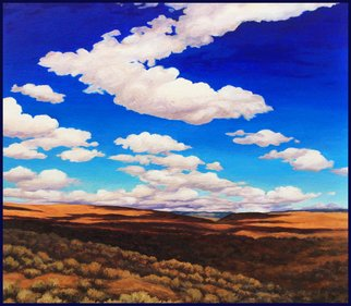 Sandra Bryant: 'walk in cowiche', 2020 Oil Painting, Landscape. This landscape was inspired by a beautiful walk in the desert country of Eastern Washington on a day with incredible clouds and sunshine. . . ...