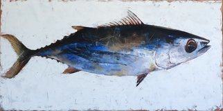 Igor Shulman: '1 fish', 2019 Oil Painting, Fish. Continuing a series of fish. After 2 delicious fish, I made one fish. The picture is called - 1 fish. What in general is obvious, looking at this picture. Do not look inside for any concept. This is not there, as usual. This is just a beautiful, stylish fish that will ...
