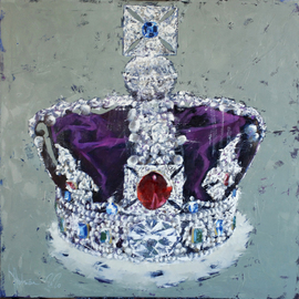 Igor Shulman: 'a simbol', 2020 Oil Painting, Still Life. Artist Description: Whatever it is called, but this subject is known to most of the inhabitants of our world.This is exactly the same crown. The main crown of the British Empire. It is adorned with the largest diamonds, the most valuable precious stones. It is not only a symbol ...