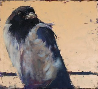 Igor Shulman: 'crow louise', 2019 Oil Painting, Birds. I continue the theme of birds.  Recently I talked with one person.  She is afraid of birds.  Strange, I have very different sensations of bird nature.  The first thing that comes to mind is freedom.  Complete and unconditional freedom of movement.  Birds have no boundaries.  Birds don t care about ...