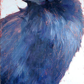 Igor Shulman: 'jackdaw barbara', 2019 Oil Painting, Birds. Artist Description: If you thought that I was an ornithologist, then you were mistaken. I am an artist. I just like the birds. I like a lot more in this world. But the most beloved is nature and all of which it consists. And birds are an integral part of ...