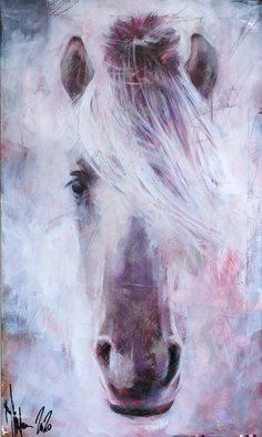 Igor Shulman: 'portrait of old horse', 2020 Oil Painting, Animals. I was very pleased to make this picture. Firstly because I love horses. Secondly, I love old horses. And thirdly, this is my favorite form of expression. White on white. The whole picture rests on nothing, and at the same time it looks solid. Everything is woven from the subtlest ...