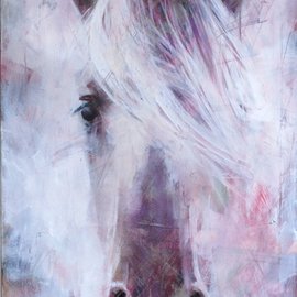 painting portrait of old horse painting By Igor Shulman