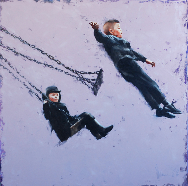 Igor Shulman  'The Swing Of My Childhood', created in 2020, Original Painting Ink.