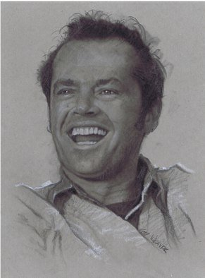 Pencil Drawing by Sid Weaver titled: jack nicholson, 2014