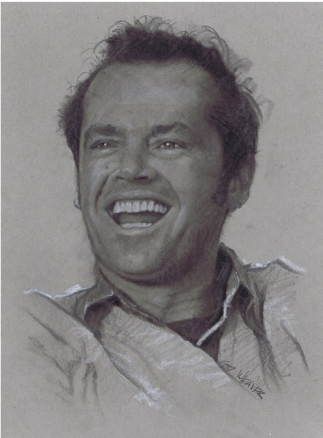 Sid Weaver  'Jack Nicholson', created in 2014, Original Drawing Pencil.