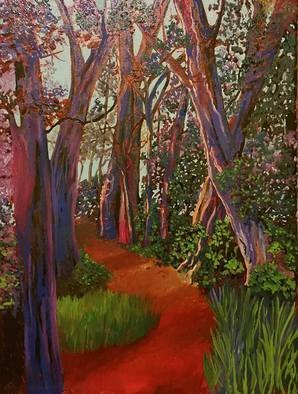 Cindy Harvell Artwork Forest Path 2, 2015 Oil Painting, Landscape