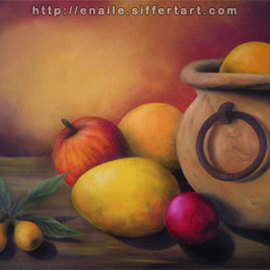 Enaile D. Siffert: 'Still life', 2008 Oil Painting, Still Life. Artist Description:  Oil painting on canvas  ...