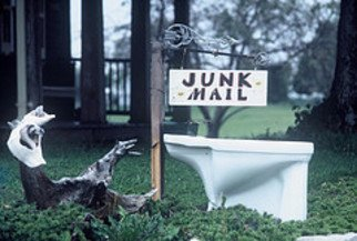 Billy Tucker Artwork Junk Mail the signs of the times collection, 1985 Black and White Photograph, Americana