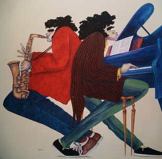 Sandi Carpenter Artwork Sultans of Jazz, 2007 Acrylic Painting, Music