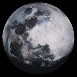 Silvestre Miranda: 'The Moon', 1994 Oil Painting, Space. Artist Description:  Its a representation of Earths moon ...