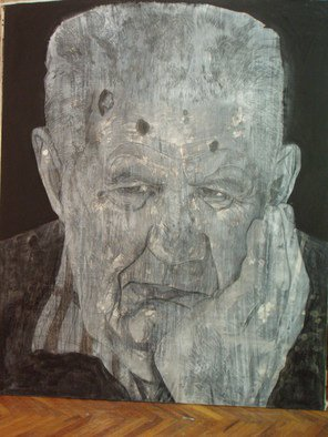 Portrait Charcoal Drawing by Srdjan Simic Title: old man 2, created in 2008