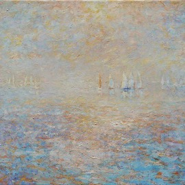 Simon Blackwood: 'sea of marmara 2', 2006 Oil Painting, Seascape.
