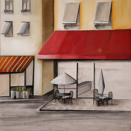 Alessa Vasco: 'IMGP2902', 2009 Acrylic Painting, Scenic. Artist Description:  Paris street corner ...