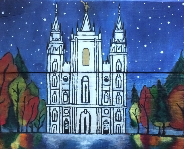 Sina Nuusila  'Lds Salt Lake City Utah Temple', created in 2017, Original Painting Acrylic.
